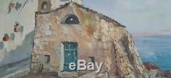 Chapelle Du Cap Corse Huile Sur Toile Signée L. Vigon
