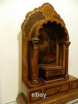 Chapelle de sacristie reliquaire, Christ, huile