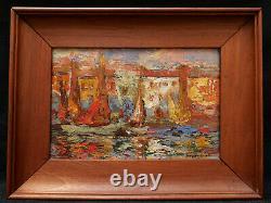 Charles Henri Dagnac Rivière tableau huile paysage port Les Martigues Provence