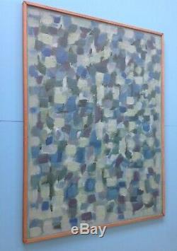 Charles PIQUOIS Huile panneau 86cm HSP 1965 Abstrait Jacques Germain Lapoujade