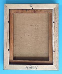 Charles PIQUOIS Tableau Huile HST 1950 signée 47x39 Abstrait Art Lyrisme 64ans