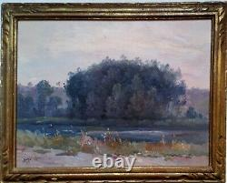 Charles Théodore Balké (1875-1951) Paysage Yonne 1931
