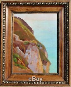Charles WISLIN, Mer, France, Peinture, Tableau, impressionniste, paysage bateaux