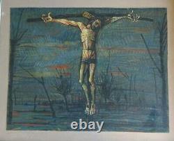 Claude Verlinde 1927- Peintre Du Fantastique Surrealiste Huile Vers 1950