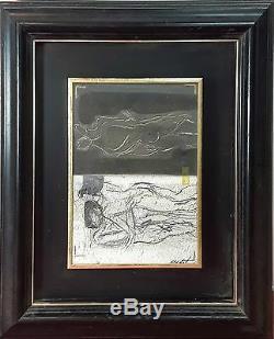 Composition Abstraite. Huile/toile. Signature Illisible. Espagne. Xxe Siècle