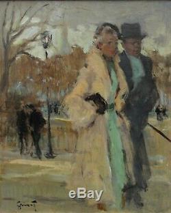 Couple à Paris, Pierre Grisot (1911-1995)