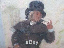 DEBAT-PONSAN E. HUILE SUR PANNEAU DE BOIS. PEINTRE TOULOUSAIN. XIX éme