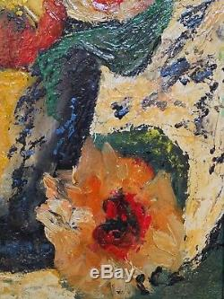 D'Anty, Composition florale, Ecole de Paris circa 1950