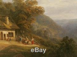 David ORTLIEB peintre alsacien COLMAR Alsace tableau paysage romantique montagne
