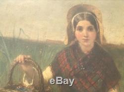 EECKHOUT, Victor (1821-1879) tableau peinture Huile sur Panneau XIX eme