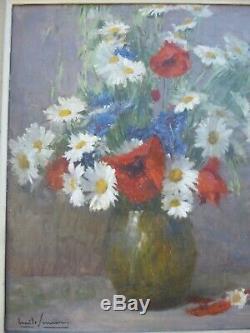 EMILE SIMON(1890-1965) Bouquet de fleurs