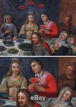 Ecole Flamande du 16 ème, Atelier de Martin Van CLEVE, Les Noces de Cana