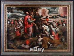 Ecole Flamande vers 1580, Atelier du Maître du Fils Prodigue, passage mer rouge