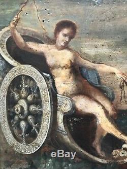 École Française du XVIIIème siècle-Mythologie Grecque-Amphitrite sur son char