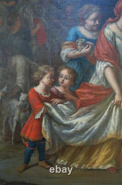 Ecole Hollandaise Du XVIIème, Moïse Sauvé Des Eaux
