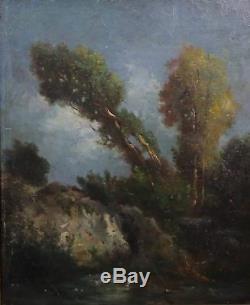 École de Barbizon Fontainebleau Entourage de Théodore Rousseau French landscape