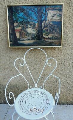 Edouard Leon 1873-1868. Grand & Bel Impressionniste 1921. Un Cedre A Puyricard