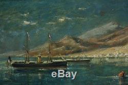 Edouard Manduau, 1855, Marine française à Aden, Steamers, Cote 2.000 euros