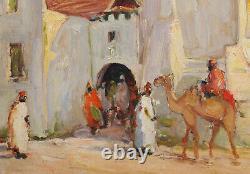 Édouard RICHARD tableau orientaliste mosquée Afrique Nord Algérie orientalisme