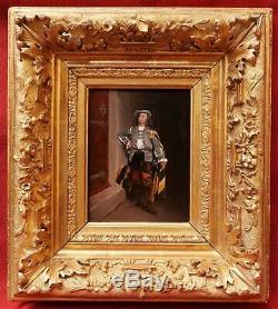 Édouard TOUDOUZE tableau portrait gentilhomme mousquetaire soldat épée costume