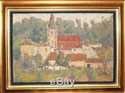 Eglise de Baurech en Gironde. Important tableau de Joseph Lépine (1867-1943)