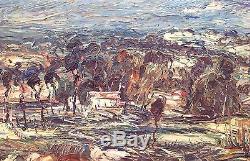Emeric Vagh Weinmann Peinture Hsp 40/50 Paysage Du Sud 12f Impressionnisme