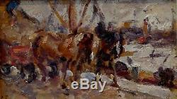 Emile Thysebaert, 1925, Le Halage, Bénézit, Coté 1800! Port d'Anvers
