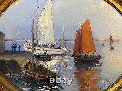 Emile gauffriaud bretagne 2 peintures sur panneau bois