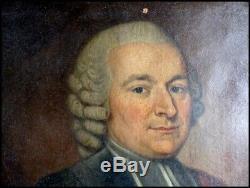 Epoque XVIIIe Portrait d'Un Religieux & Homme de Loi Noblesse du Périgord Noir