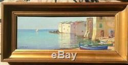 Erbalunga Corse Superbe Huile Sur Panneau De Olynthe Madrigali Peintre Corse