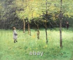 Ernest Quost, (1844-1931), Le Sous-bois, Huile Sur Toile