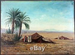 Ernst Huber (Autrichien, 1895-1960) Ancien Tableau Peinture Huile Oil Painting