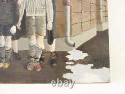 Etienne CHAVANCE (XX) 05/07 GURS, Huile sur bois Expressionnisme Ecole de Paris