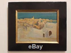 Eugène ASSEZAT DE BOUTEYRE (1864-1942) le Port d'Alger, Orientaliste