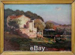 Eugène De Barberiis 1857-1937. Bel Impressionnisme & Paysage Animé De Provence