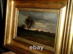 Eugène Lavieille après l'orage huile sur panneau signée datée 1855 Barbizon