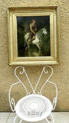 Ev. Luminais 1822-1896. Magnifique Tableau. Gaulois De Retour De Chasse Au Loup