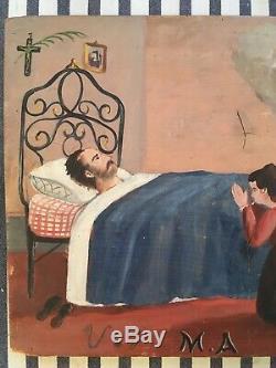 Ex Voto Guérison Vierge Marie Italie V. F. M. A 1892 Art Populaire Religion Voeu