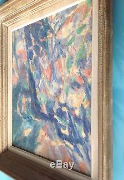 FAGNIEZ (1936) Tableau Toile HST 1966 signée Abstrait Expressionnisme Fauvisme