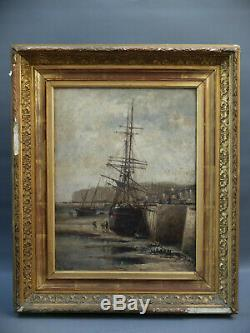 FRERET DIEPPE MARINE MANCHE TABLEAU peinture Cherbourg Cotentin // PECRUS ISABEY