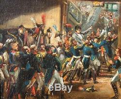 Félix PHILIPPOTEAUX, Napoléon, tableau, Empire, Tuileries, Elbe, militaria