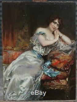 Femme élégante vers 1900