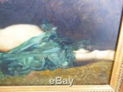 Femme nue de profil fin XIX°