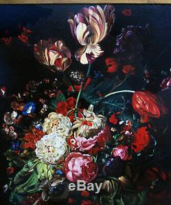 Ferenc Tulok Hongrie, bouquet école Flamande hyper réaliste bien coté