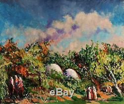 Fernand Jeanneau Tableau Bizerte Tunisie Marabout Sidi Hassoun Peintre Pont Aven
