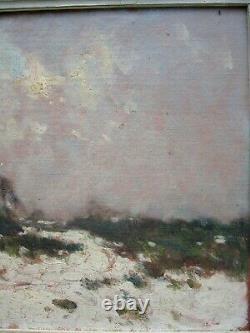 Fernand Maillaud 1862/1948 Paysage de neige 1917 H/Bois Creuse Souvenir de Jo