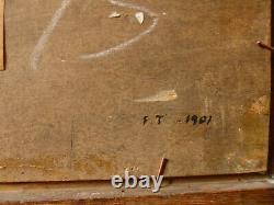 Francis Tattegrain (1852-1915), Baie de Somme, 1901, huile sur panneau