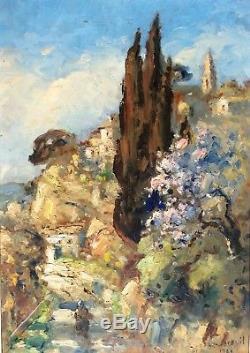 Gabriel Breuil Avignon Huile Sur Panneau Ancienne Impressionnisme Provencal