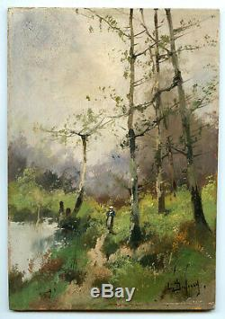 Galien-laloue Eugene Huile Sur Panneau Signé L. Dupuis Handsigned Oil On Wood