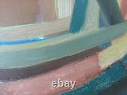 Georges CLAIREFOND Rare HSP de 1955 Huile sur panneau Expressionnisme Abstrait